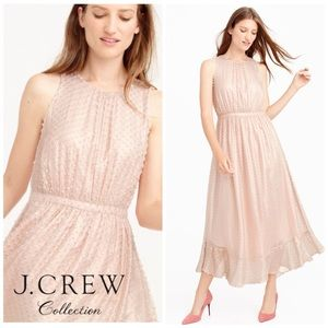 J Crew Collection Metallic Clip Dot Dress 4 NWT.